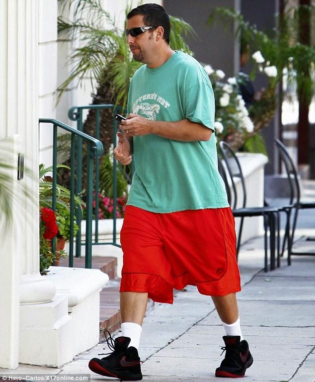 sandler models the latest in junior high pe garb - Adam Sandler Christmas