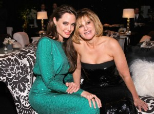 "Angie & Amy Pascal in happier times. ""Angie, ""Cleopatra"" will be the role of a lifetime,"" Pascal whispers in Angie's ear."