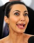 Kardashian broke her face.