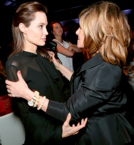 Angelina sucks what's left of Amy Pascal's soul out.
