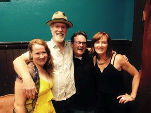 Familial love. How may redheads does it take to kidnap Loudon Wainwright III?